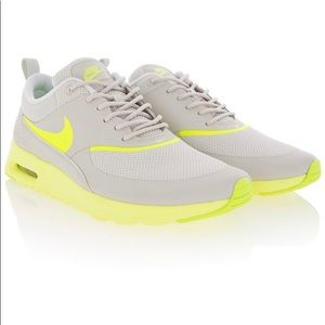 Nike Air Max Thea Gray Fluorescent Yellow Sneakers